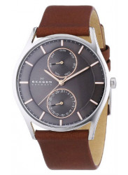 Skagen Men's Holst Brown Leather watch SKW6086