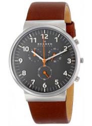 Skagen Men's Ancher Leather Quartz Watch
