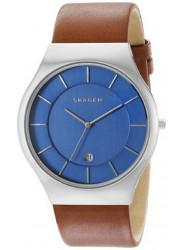 Skagen Men's Grenen Brown Leather Watch SKW6160