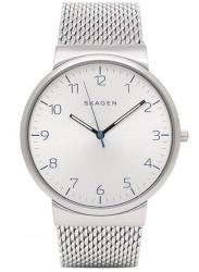 Skagen Men's Ancher Silver Mesh Silver Dial Watch SKW6163