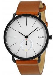 Skagen Men's Hagen White Dial Leather Watch SKW6216