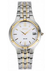 Seiko Men's SNE066 Stainless Steel Two-tone Solar Watch
