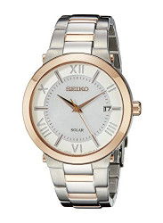 Seiko Women's Recraft Solar Mother Of Pearl Dial Watch SNE882