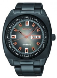 Seiko Men's SNKM99 Black Stainless Steel Automatic Watch