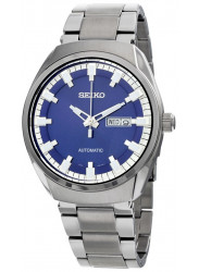 Seiko Men's Recraft Automatic Blue Dial Stainless Steel Watch SNKN41