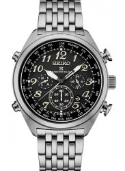 Seiko Prospex Men's Chronograph Black Dial Stainless Steel Watch SSG017