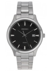 Seiko Men's Black Dial Stainless Steel Watch SUR051