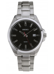 Seiko Men's Balck Dial Stainless Steel Watch SUR061