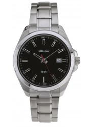 Seiko Men's Balck Dial Stainless Steel Watch SUR061