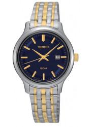 Seiko SUR781 Women's Stainless Two-Tone Bracelet Blue Dial Watch