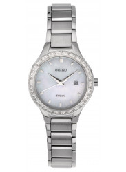 Seiko Women's Mother of Pearl Dial Crystal Watch SUT135