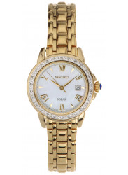 Seiko Women's Solar Gold-Tone Diamond Watch SUT172