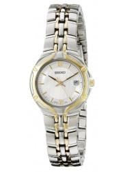 Seiko Women's White Dial Two Tone Watch SXD646