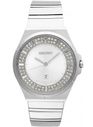 Seiko Women's Silver Crystal Dial Stainless Steel Watch SXDF71