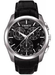 Tissot Men's Chronograph Black Dial Black Leather T035.617.16.051.00