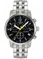 Tissot Men's Stainless Steel Chronograph Black Dial Watch T17.1.586.52
