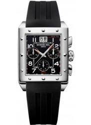 Raymond Weil Men's Tango Black Dial Black Rubber Watch 48811-SR-05200