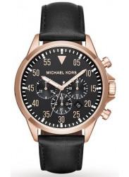 Michael Kors Men's Gage Chronograph Black Leather Watch MK8535