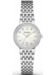 Bulova Women's Diamond Stainless Steel Watch 96R203