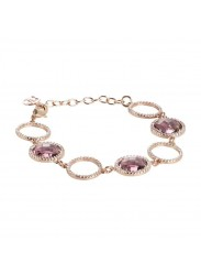 BOCCADAMO XBR400RS Bracelet with Montana Briolette Crystals surrounded by Cubic-Zirconia from the SHARADA Collection