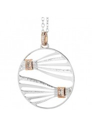 Short NECKLACE PENDANT WITH bicolor and zircons