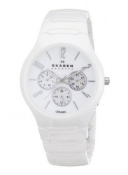 Skagen Unisex White Ceramic Watch 817SXWC1