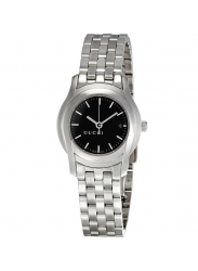 Gucci Women's Black Dial Stainless Steel Watch YA055518