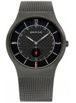 Bering Men's Classic Black Dial Stainless Steel Mesh Watch 11940-377