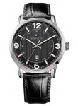 Tommy Hilfiger Men's Stainless Steel Black Leather Watch 1710342