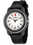 Victorinox Men's Original GMT White Dial Black Nylon Strap Watch 249089