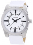 Diesel Men's White Dial White Leather Watch DZ1599
