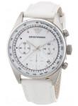 Emporio Armani Women's Chronograph White Leather Watch AR6011