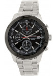 Seiko Black Dial Black Tone Bezel Chronograph Watch SKS427