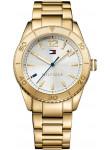 Tommy Hilfiger Women's Ritz Silver Dial Gold Tone Watch 1781268