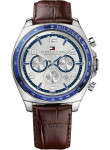 Tommy Hilfiger Men's Chronograph Silver Dial Brown Leather Watch 1790937