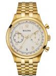 Bulova Men's Classic Chronograph Gold Toned Watch 97B149