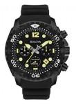 Bulova Men's Sea King UHF Chronograph Black Rubber Strap Watch 98B243