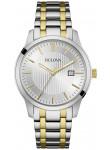 Bulova Men's Silver Dial Two Tone Stainless Steel Watch 98B263