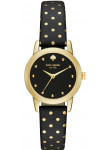 Kate Spade Women's Mini Metro Black Dial Polka Dot Leather Watch 1YRU0890
