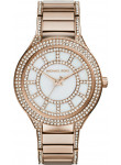 Michael Kors Women's Kerry Mother of Pearl Dial Crystals Rose Gold-Tone Watch MK3313