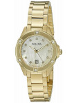 Bulova Women's Mother Of Pearl Dial Gold Tone Stainless Steel 97R100