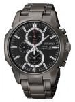 Seiko Men's Solar Black Dial Alarm Chronograph Watch SSC095