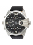 Diesel Men's Uber Chief Black Leather Watch DZ7376