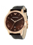 Emporio Armani Men's Brown Dial Brown Leather Watch AR1613