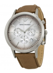 Emporio Armani Men's Taupe Leather Watch AR2471