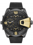 Diesel Men's Uber Chief Black Leather Watch DZ7377
