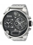 Diesel Mens Mr. Daddy Chronograph Black Dial Stainless Steel Watch DZ7221