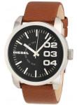 Diesel Men's Black Dial Brown Leather Watch DZ1513