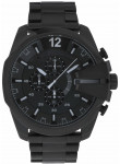 Diesel Men's Mega Chief Chronograph Black Stainless Steel Watch DZ4283