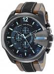 Diesel Men's Mega Chief Chronograph Leather Strap Watch DZ4305
